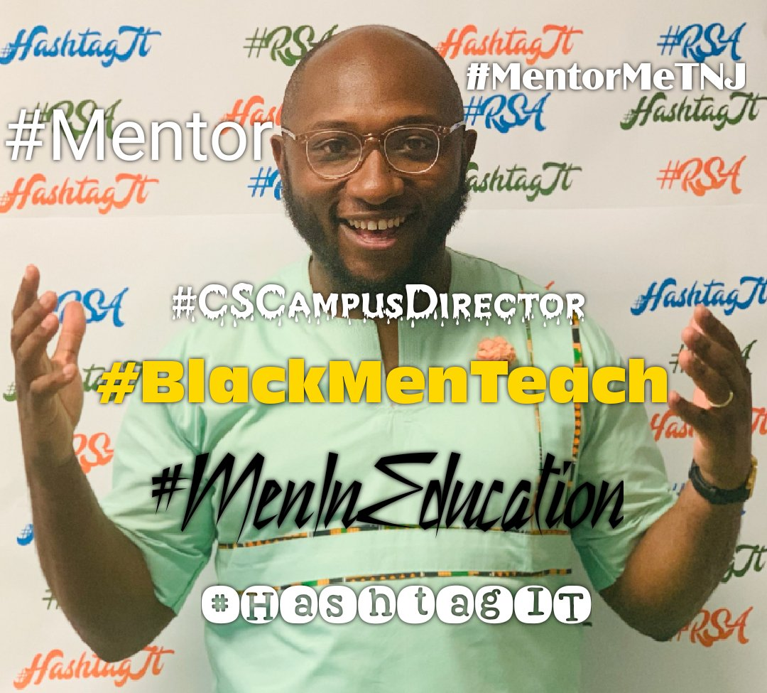 Say hello to our @cschools director, affectionately known as Mr. TJ! #CSCampusDirector #Mentor #MentorMeTNJ #BlackMeninEducation #BlackMenTeach 💙💚🧡 We ❤how you ❤ our children! #HashtagIT  #Champions4Children  #TheBESTPerformingArtsSchoolinD4 Adapted from #NYin25 https://t.co/1gQwX55GwZ