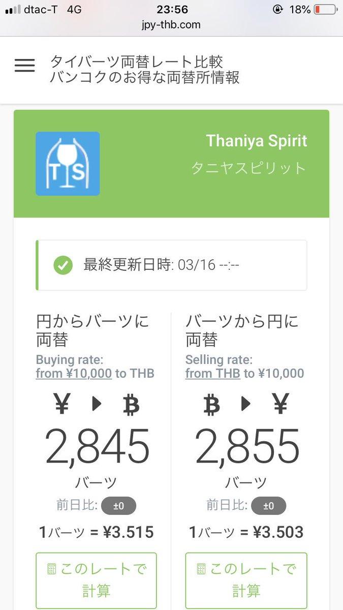 1 バーツ 日本 円