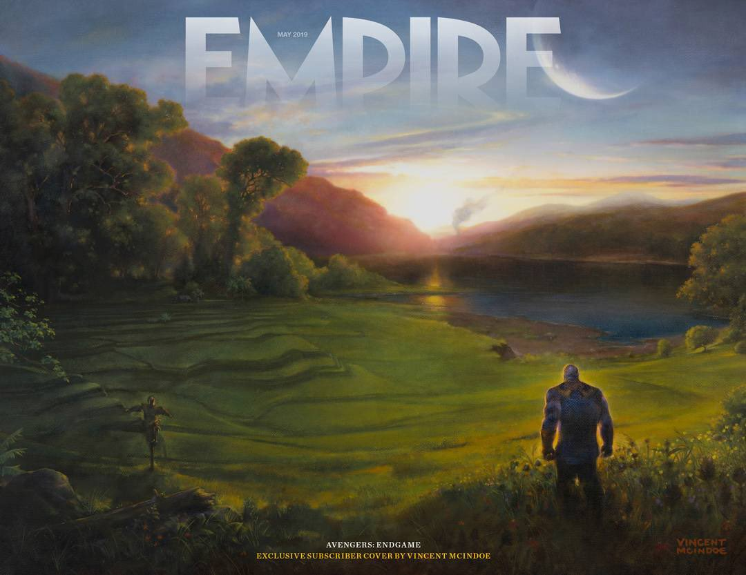 New @empiremagazine cover for their 'Avengers: Endgame' issue gives us a look at Thanos on his farmstead after the Snap.