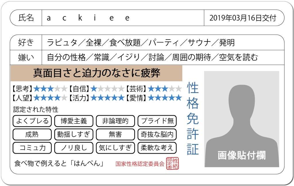 ackiee's photo on #免許証の診断
