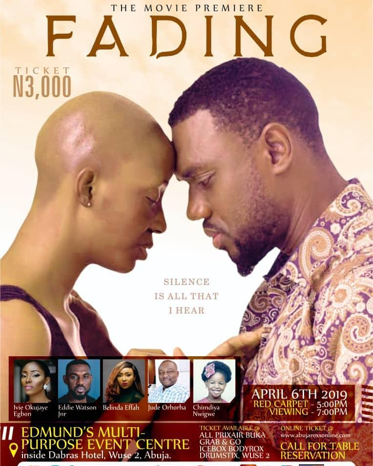 #Fadingthemovie #CancerAwareness #cancerfighter #movieposter #abujaevent #Abuja #moviepremiere . Together we can create the needed awareness, Thank you  #Fadingthemovie  A @taiyeshittu film by @IamTitijoseph #premier #health #movie #nollywood #Cancers #writer #brain #tumourpic.twitter.com/AuSmoxWV3u