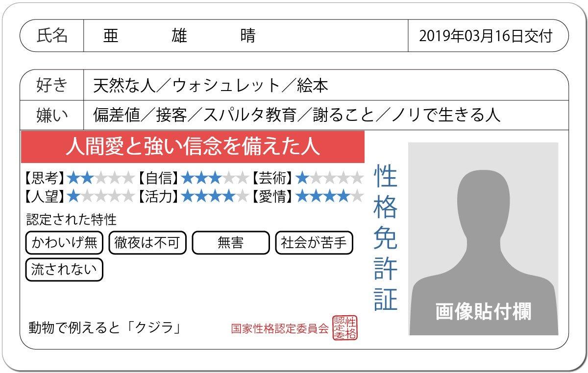 亜雄晴(あおはる)'s photo on #免許証の診断