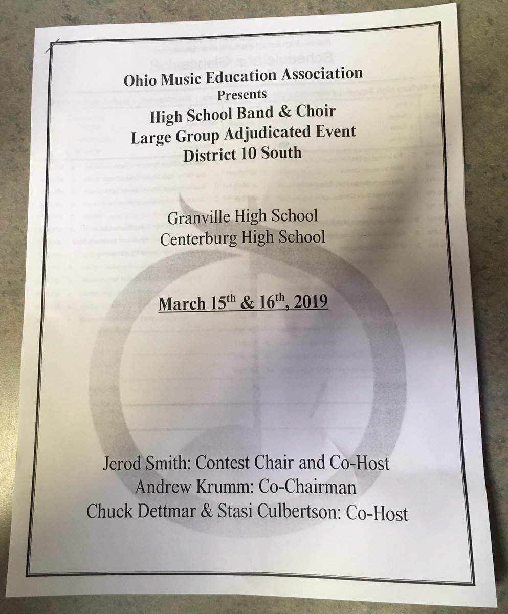 OMEA district 10 South competitions are today!  First Centerburg, then Granville!  The Berlin symphonic band sounded great!  Congratulations Bears!!   #talent🎼🐻 @OlentangySD @BerlinChoirs @OBHSOrchestras  @BerlinBears_SS  @TheatreBerlin  @SuperOlsd  @FriendsFbpa  @OBHSBand