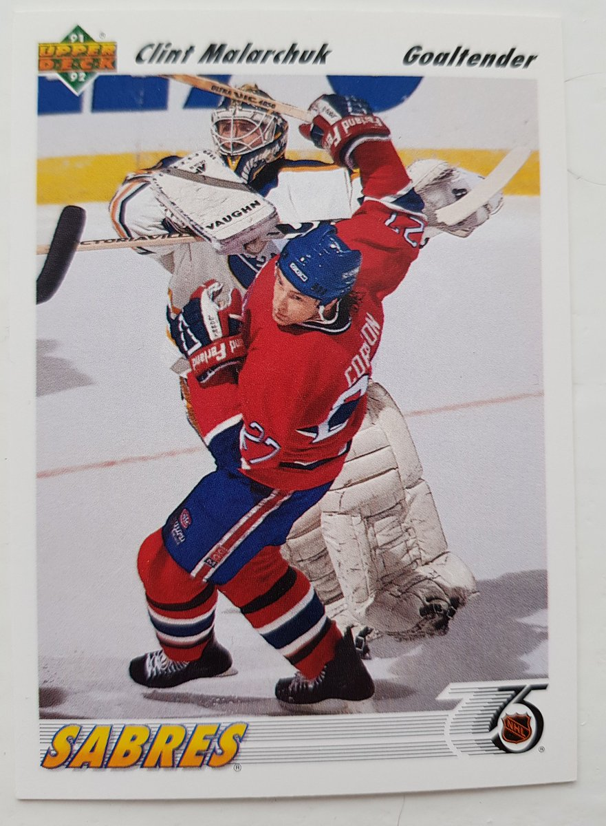 Nhl Hockey Cards On Twitter Clint Malarchuk Buffalo Sabres Upper