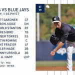 Image for the Tweet beginning: Yankees take on the Blue