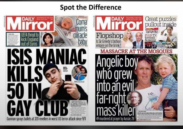 Spot the difference   Shameless kind of media fuelling islamophobia & hate  Let's all nurture the sense of responsibility and accountability   #BringBackThePeace