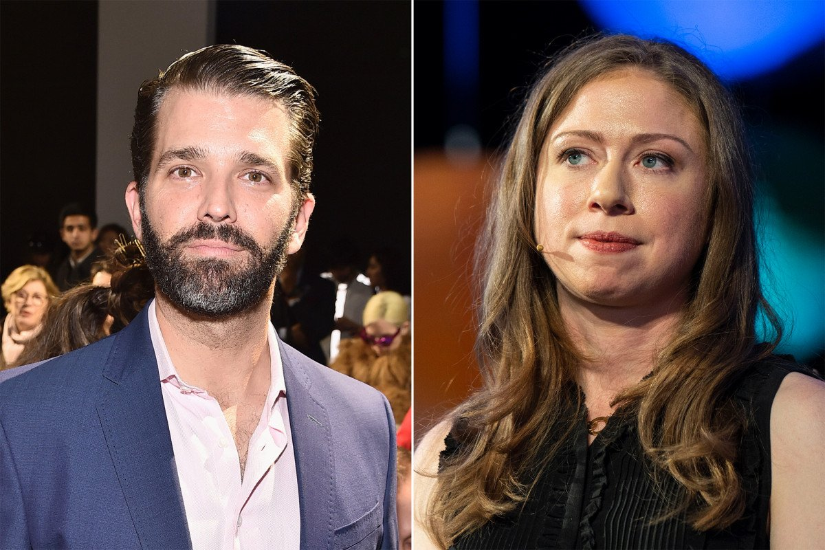 Donald Trump Jr. comes to Chelsea Clinton's defense after NYU video https://trib.al/AvhqIEG
