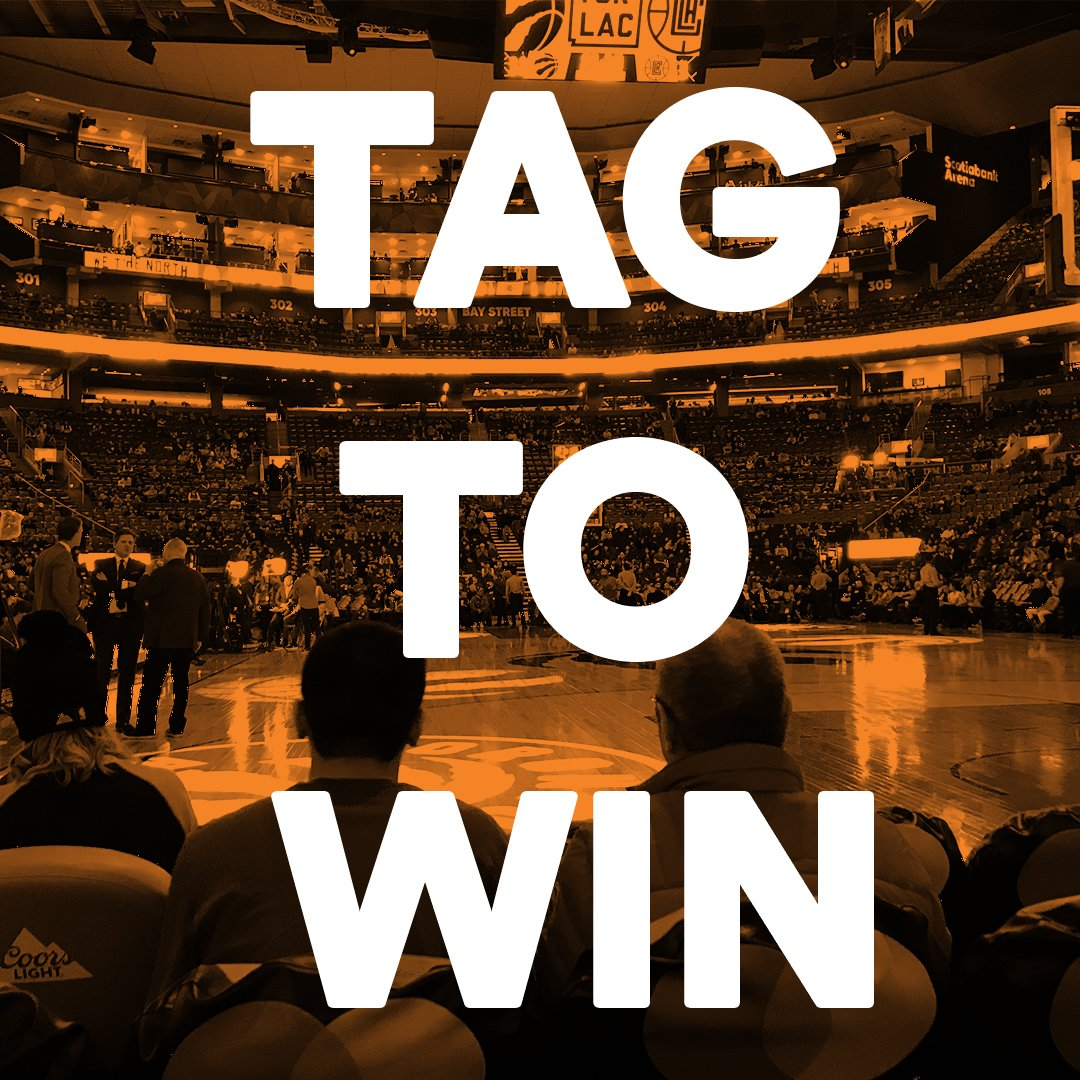 Choosing who you'd bring to a @Raptors game with courtside tickets is never easy! Follow us, tag a friend (in a reply to this tweet), include #TangerineHoopsContest in your reply and you could win a pair of courtside tickets to the Mar 22nd Raptors game.  https://hoopstagtowin.shortstack.com/42FvCM