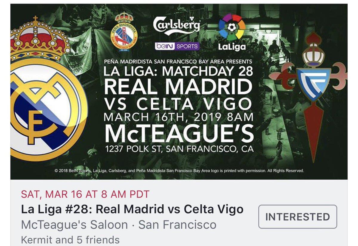 #GameDay @realmadrid @realmadriden @ESbeINSPORTS @carlsberg @beINSPORTSUSA  @McTeagues #Carlsberg  #HalaMadrid #MadridistasSF #MadridismoUSA #MadridismoSF #LaLiga #RealMadrid #RMFans