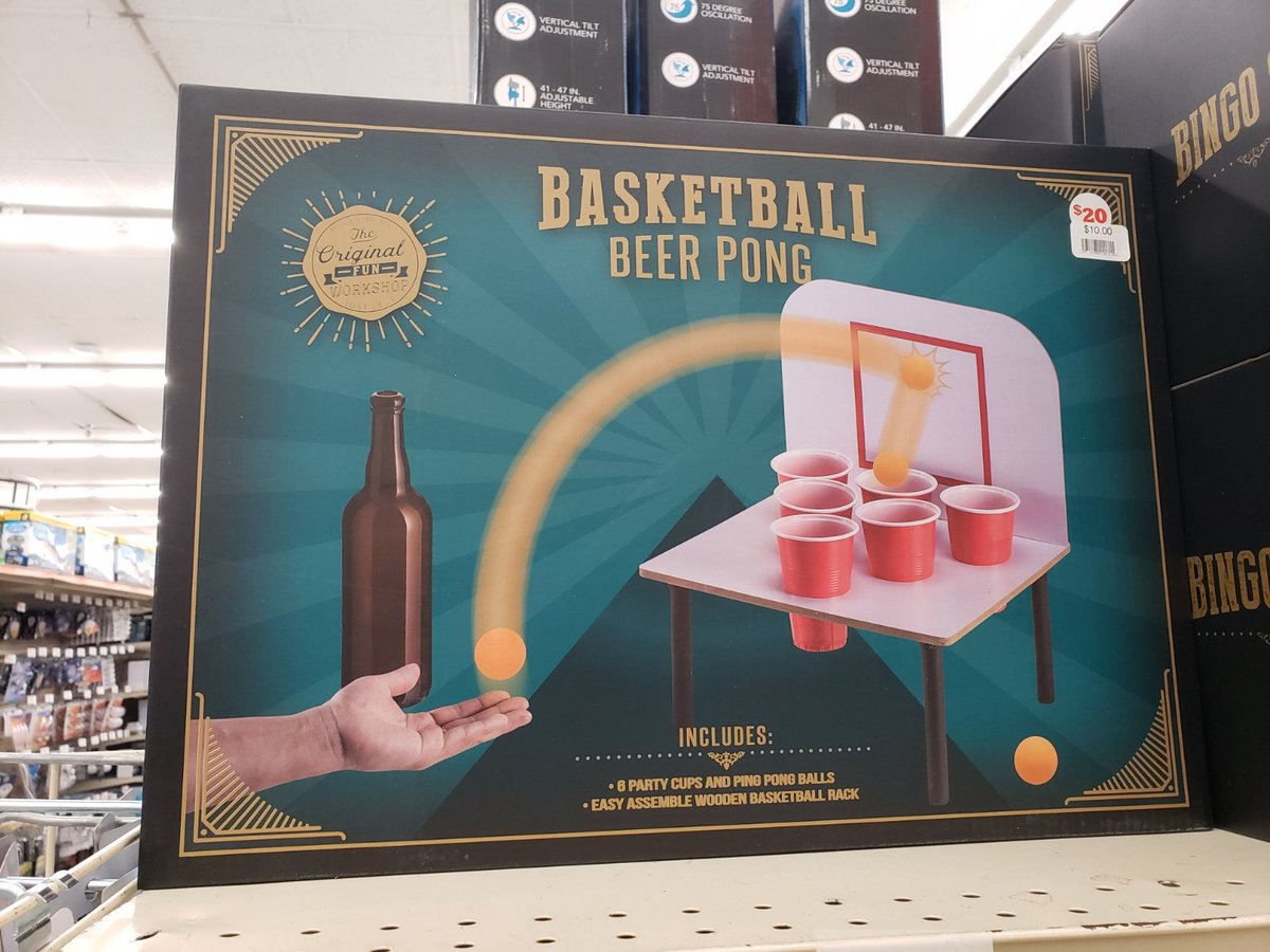 Thanks @BigLots for reminding me I&#39;m a loser with no friends.  #beerpong #solitairebeerpong<br>http://pic.twitter.com/p8ZtgDuMeZ