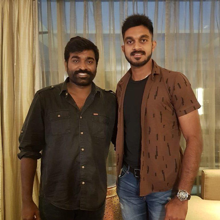 Happy to meet Makkal Selvan @VijaySethuOffl #FanBoyMoment