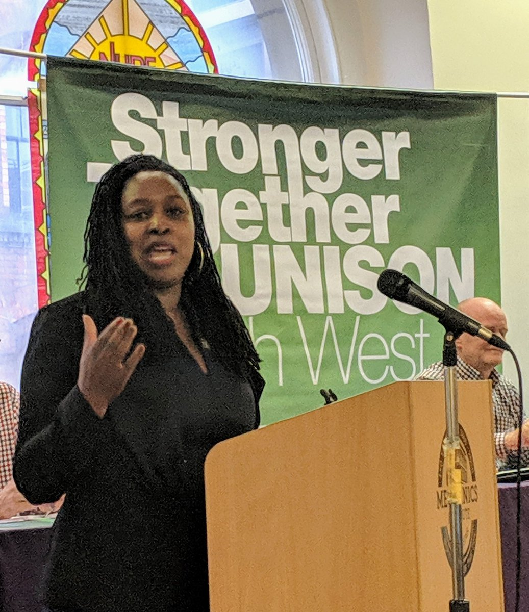 """The brilliant @DawnButlerBrent  """"if this were a developing country we'd be sending people over to investigate!"""" @NorthWestUNISON #skillsforstrength"""