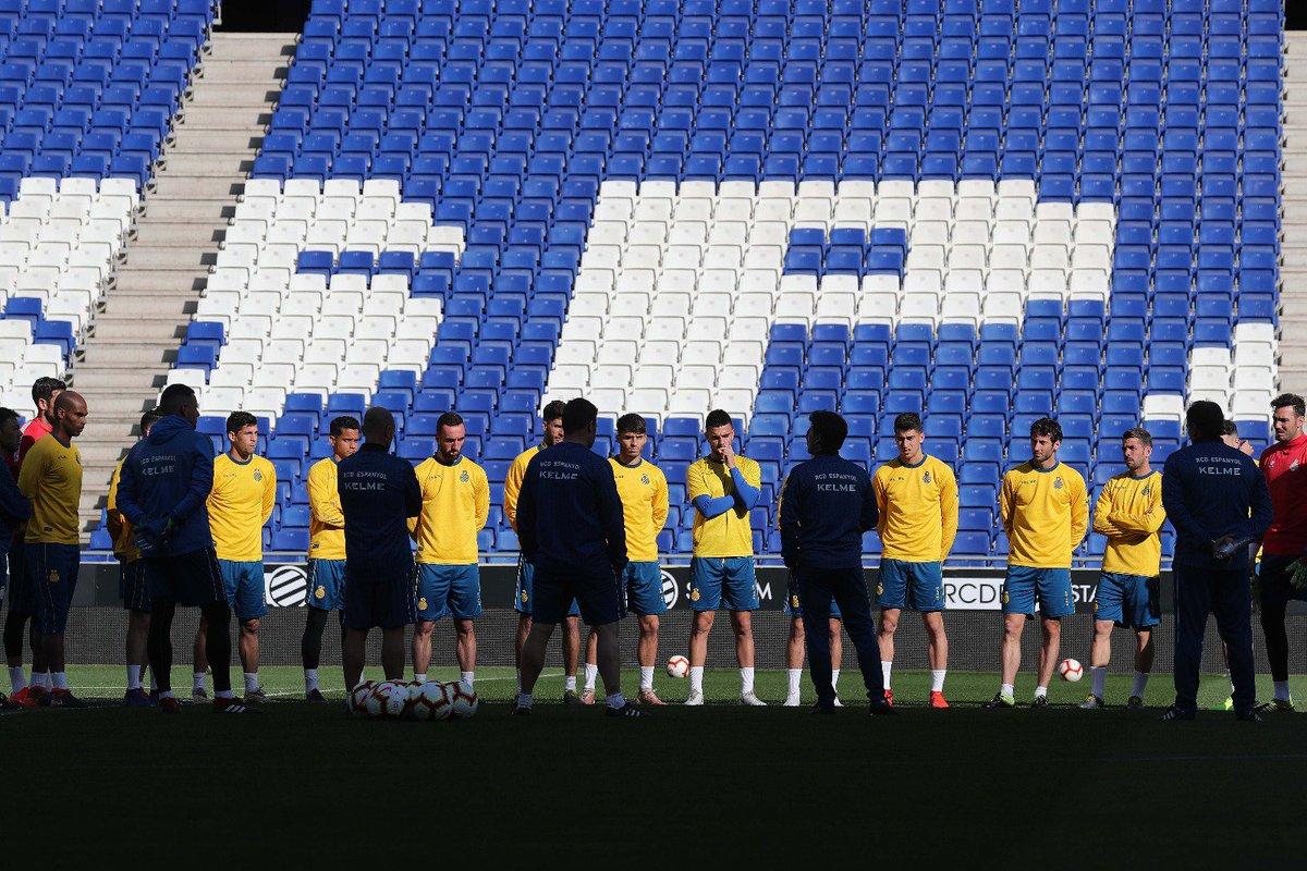 Entrenamiento del Espanyol.