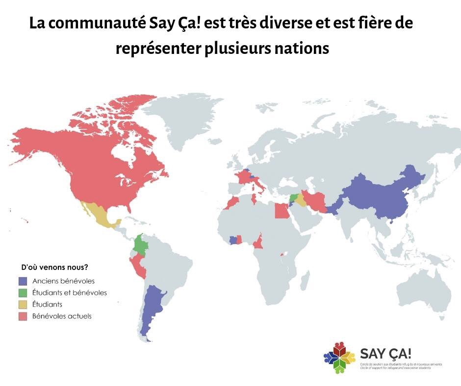 test Twitter Media - At Say Ça!, we believe that stronger communities are built on the values of diversity, inclusiveness and mutual respect.  Take a look below to check out where members of the Say Ça! family come from: #RefugeesWelcome #canada #mtl https://t.co/v7aSndd4Z8