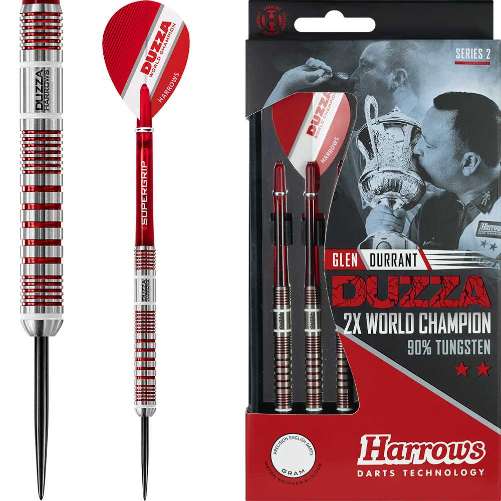 Buy a set of Harrows Tungsten Darts & receive a free goody bag worth over £5, jam packed with darts accessories! We'd recommend Glen Durrant's Series 2 Darts, find out more here: https://goo.gl/SPqHwL