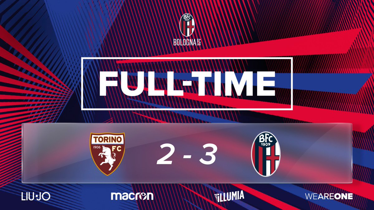 ⏱ | TRIPLICE FISCHIO | ⏱  🙌 VINCIAMO NOI 🙌  #TorinoBologna #WeAreOne