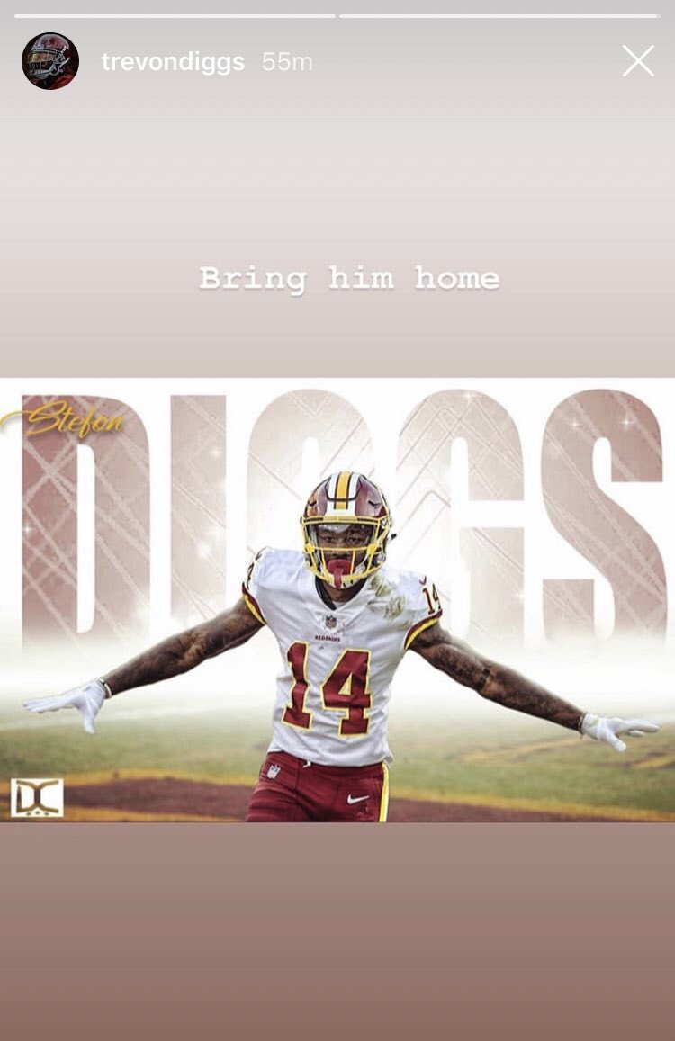 Adam Schefter shoots down silly Stefon Diggs-Redskins speculation
