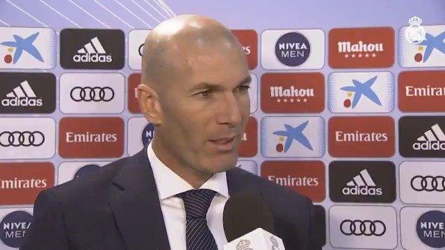 """👔 Zidane: """"Lo más importante para los jugadores era ganar. Para nosotros y para ellos, el reto era ganar.""""   💬 Este fue el análisis del técnico madridista tras la victoria ante el RCCelta. #HalaMadrid 👇"""