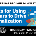 The best marketing is targeted, personalized and engaging. This is your chance to learn how to put it all together.Secrets for Using Webinars to Drive Personalization 👉 Special Guest: @ON24's @4markb 👉 When: Thursday, March 21 👉 Sign Up: https://t.co/UItt49mbLn