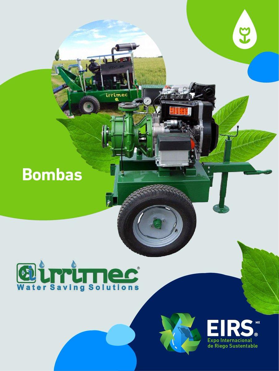 Las bombas #Irrimec son ideales para máquinas de #Riego semovientes, rampas, pivotes e instalaciones fijas. Versión Mini te permite cebar pequeños carretes de mangueras como las rain-sky y la mini-rain.💧🌽🍅 #EirsMx #EIRS2019 #SemanaEirs #FelizSábado #Irrigación #Sustentabilidad