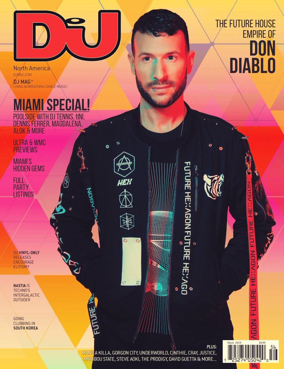 Look MOM! I made it! On the cover of this months US DJ Mag 😍! I remember buying DJ mag when I started out DJ'ing. Now I made it on the cover of this legendary magazine myself. Life is good. Also make you check out the in depth interview inside! See you guys in Miami!