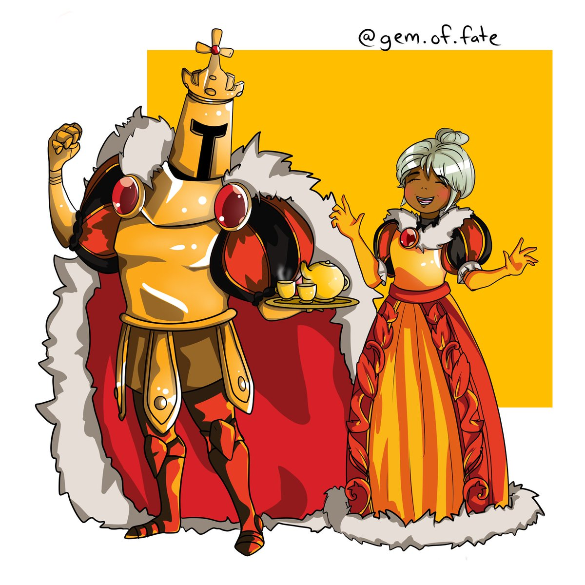 I'm really excited for King of Cards, so I drew some wholesome content while waiting for its release! I'm posting it here bc the following for Shovel Knight is bigger on Twitter. @YachtClubGames is a blessing  (The @ in the pic is my Insta you can disregard it) #kingofcards<br>http://pic.twitter.com/T0TZ8W9el7