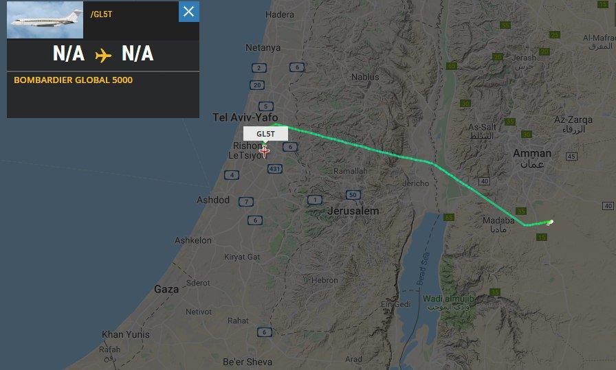 "From Abu #Dhabi to Tel #Aviv with a ""5 minute trick"" in Amman. Jet Aviation Business Jets AG/ GL5T/HB-JRX. @ynetalerts @avischarf @Obs_IL @EdyCohen #potn"