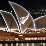 A terrible reason for it, but a gesture of solidarity and shared purpose.  My birthplace & my home grieving together. My thoughts go out also to the people of Grafton. A picturesque and proud town, unduly stained .  The silver fern of NZ projected on the Sydney Opera House.