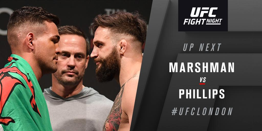 UFC Fight Night 147 Results - Jack Marshman Edges John Phillips, Gets Split Decision Win -