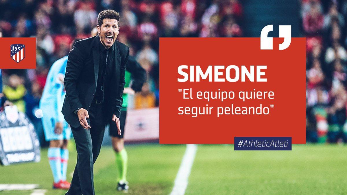 📡 🗞 | RUEDA DE PRENSA  🎙 Valoraciones de @Simeone tras el #AthleticAtleti  ➡  http://ow.ly/r1GR30o4rUO #AúpaAtleti