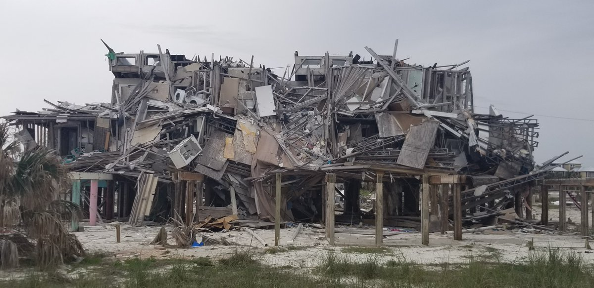 Although a lot has been accomplished in the succeeding 5 months after #HurricaneMichael, much of the destruction looks virtually the same as it was, when I left #MexicoBeach on the 13th of October 2018!<br>http://pic.twitter.com/0QV2W05KMU