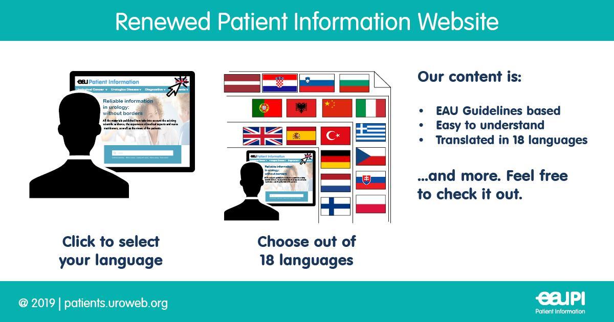 EAU Patient Information's photo on #EAU19