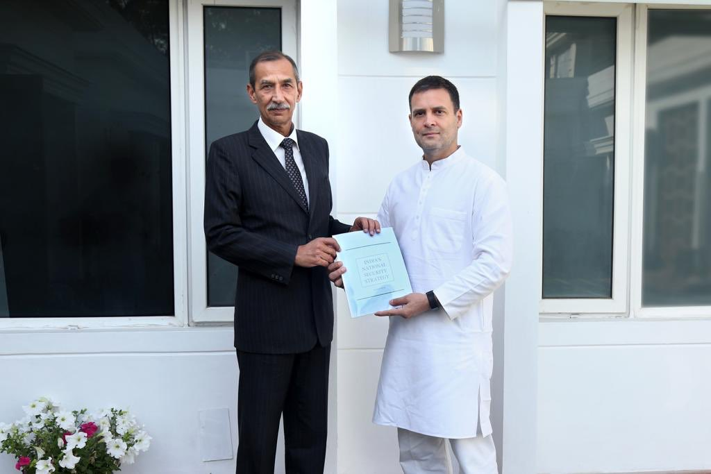 Lt. General (Retd.) D S Hooda & his team have put together a comprehensive report on India's National Security, that he presented to me today.   This exhaustive report will at first be discussed & debated within the Congress party.   I thank him & the team for their effort.
