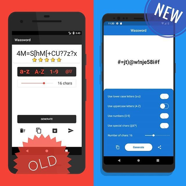 Pretty solid restyling of one of my side project app: Wassword - Wonderful Password Generator #wassword #uiux #sideproject #ui #ux #userinterfacedesign #userinterface #android #restyling #flutter #flutterui #software #app #appui #appdesign #softwareengineer #graphicuserinter…