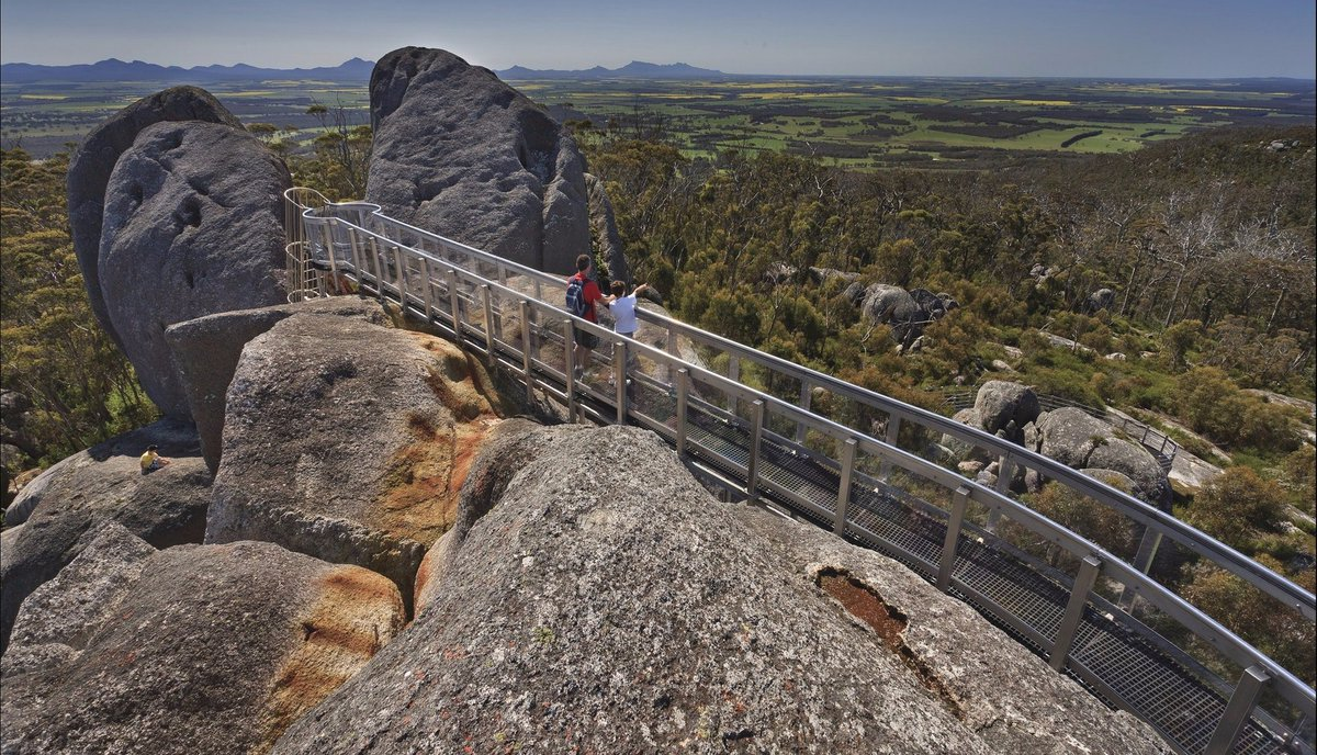 Over 1,100 million years in the making, the striking outcrop of #CastleRock invites you to explore its peak and and drink in the outstanding views. The #GraniteSkywalk in the #Porongurup in @AustraliasSW sure is an uplifting experience! http://bit.ly/2FdmQQJ