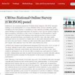 Image for the Tweet beginning: Our CROss-National Online Survey Panel
