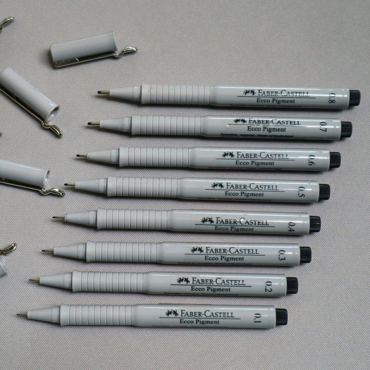FABER-CASTELL Pigmentliner ECCO PIGMENT 0,7 mm schwarz