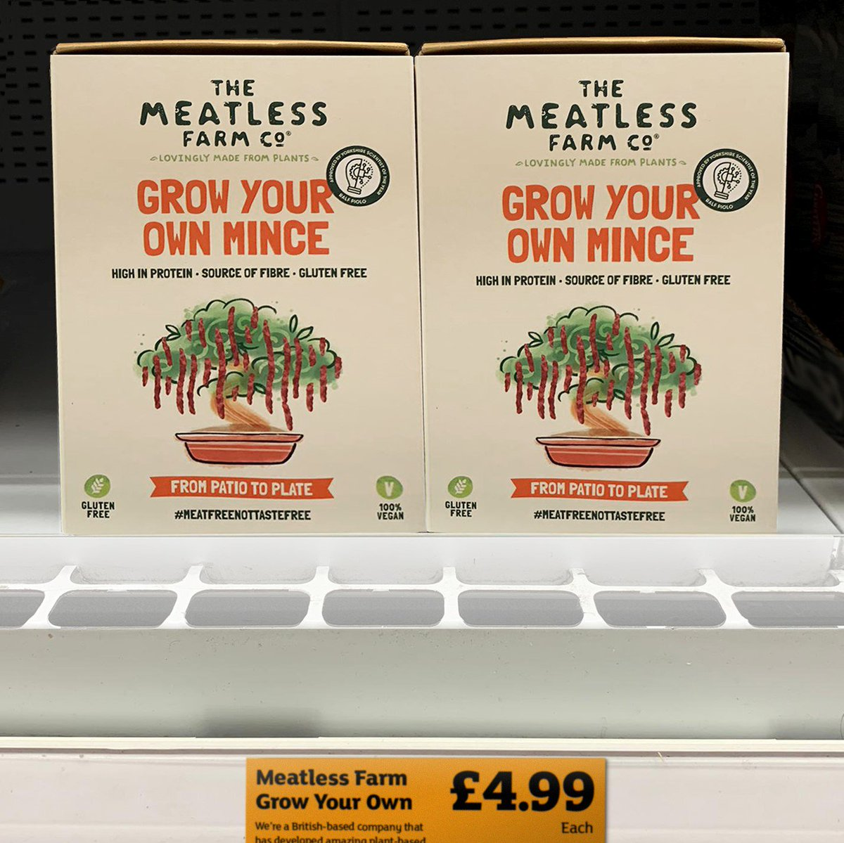 NEW! Grow Your Own Mince with Meatless Farm 🌱 We've just launched our ground-breaking product, allowing green-fingered vegetarians, vegans and Britain's 22 million flexitarians to grow their own #meatless mince at home! 💚 Find out more: http://www.meatlessfarm.com/from-patio-to-plate-grow-your-own-meat-free-mince… #growyourownmince