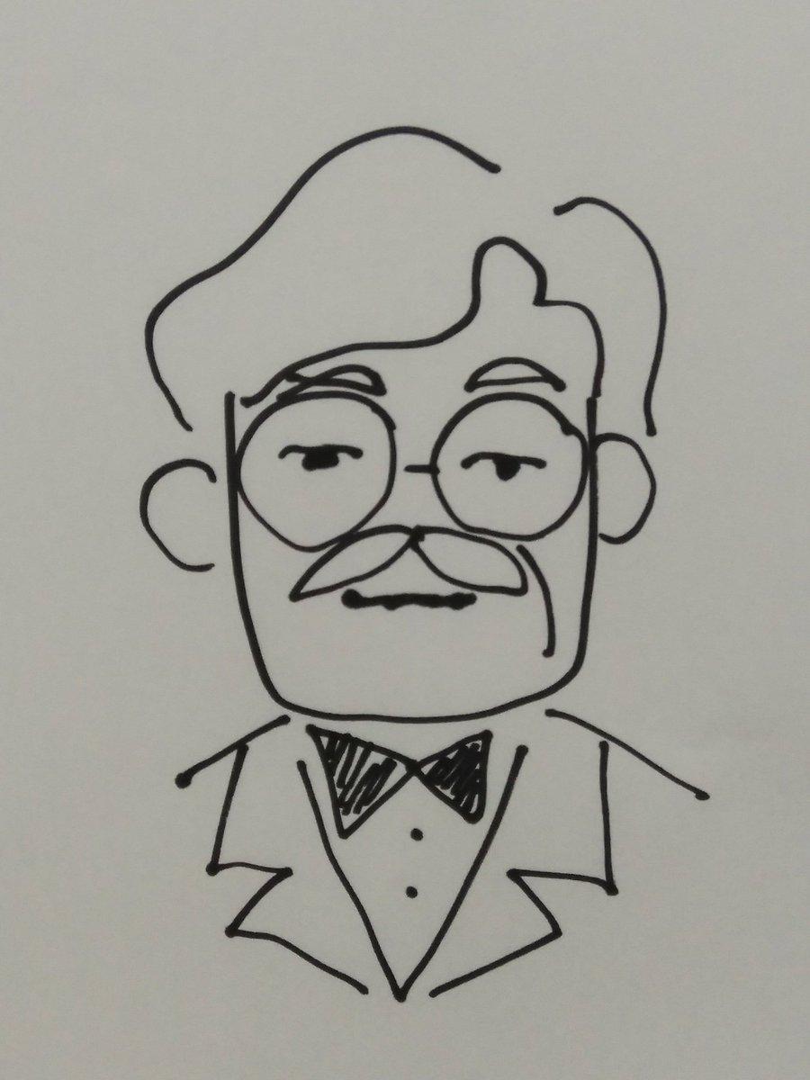 Koji カーネルサンダース のファンアートイラスト みんなのvtuber