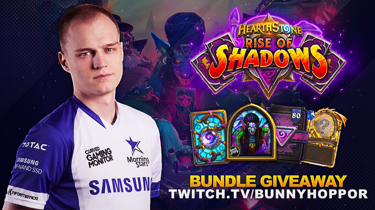 With the new expansion so close I've decided to do a giveaway for the Rise of Shadows Mega Bundle.  3 easy steps towards your Mega Bundle  1. Be Following 2. Like + Retweet to enter 3. Get lucky and win 🎁   Will draw the winner on April 4th!