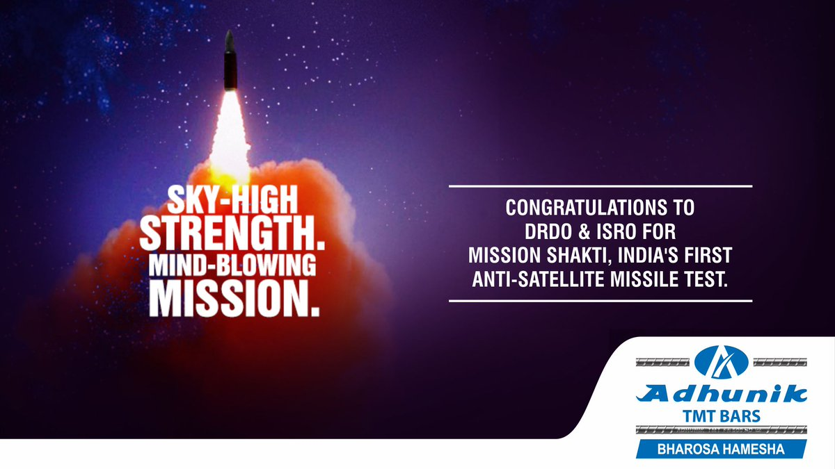 We Salute The Scientists Of DRDO And ISRO For Successful Anti Satellite Test
