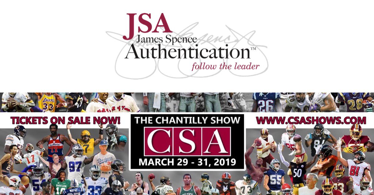 Today kicks off @CSASHOWS event this weekend in #ChantillyVA at the @DullesExpoCtr Stop by the JSA booth with your signed collectibles for authentication! 🔍✍️ . . #autograph #memorabilia #authenticationservices #jsaloa #jsaauthenticated