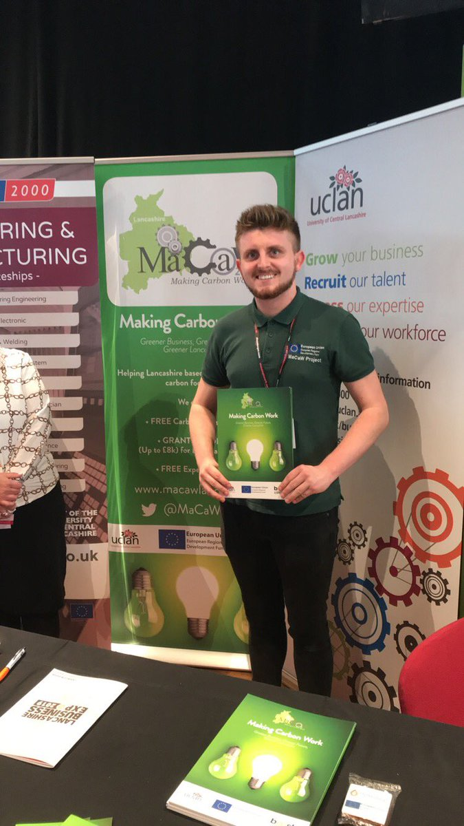 We had a great time at the @LancashireExpo on Friday - It was great to share the project with so many people curious to see the types of business support on offer through @UCLanBusiness 👍 Any Lancs based SME's looking to reduce your carbon footprint, get in touch! #LowCarbon