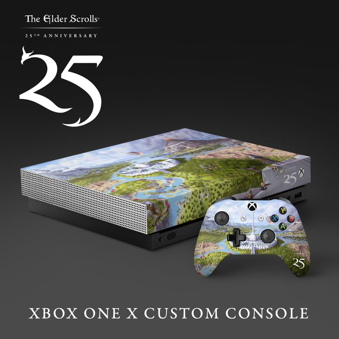 RT for a chance to win a #TES25 Xbox One X! What better way to celebrate both 25 years of The Elder Scrolls and #BethesdaGameDays at #PAXEast? See the official rules here: beth.games/2TIkX28