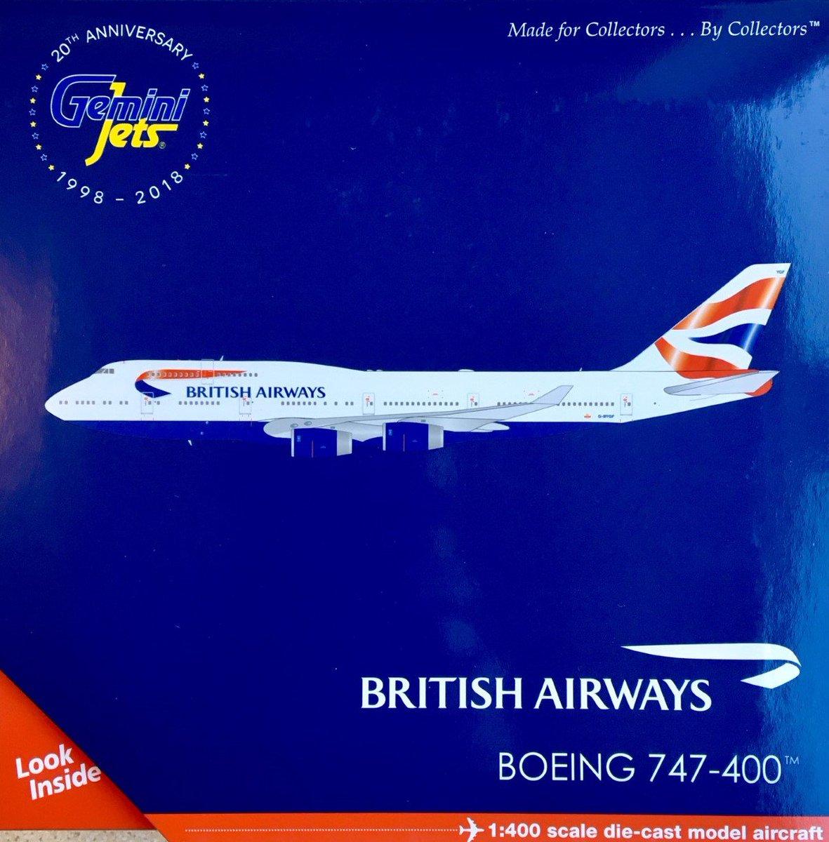 Boeing 747-400 British Airways aircraft round sticker