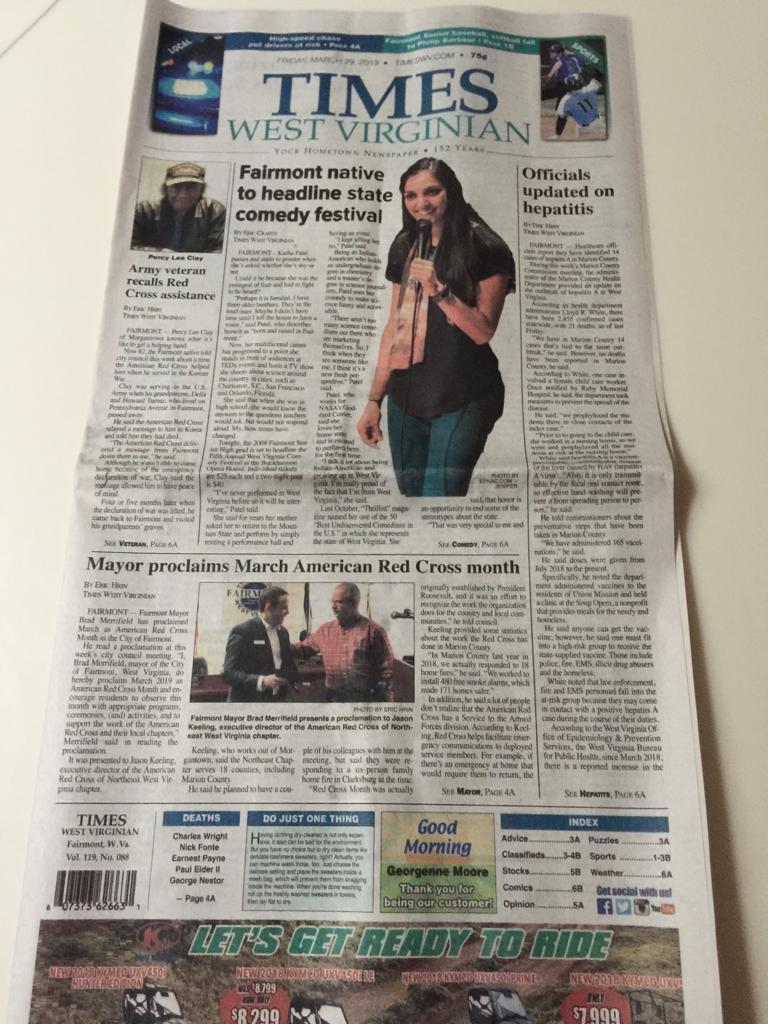 Kasha Patel On Twitter Another Write Up And This Time On The Front Page Of The Timeswv Very Excited To Headline The West Virginia Comedy Festival Tonight Grab Tickets Read The Article Sna ist ein nachrichtenportal, das sie auf dem laufenden über nachrichten aus aller welt hält. twitter