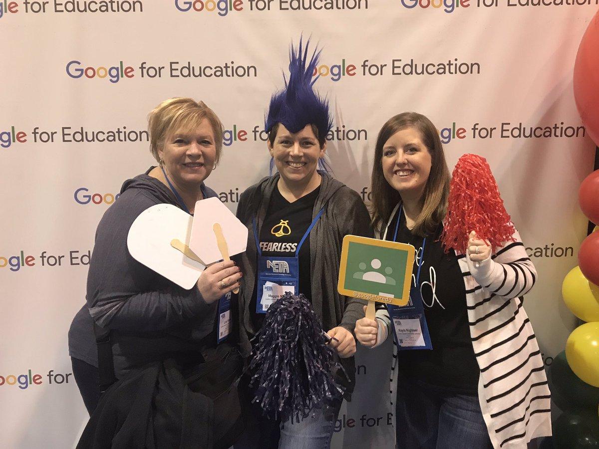 Photo booth fun with @Kayla_Nightser & Lisa K at #NETA19 and @GoogleForEdu #LCTitanHill