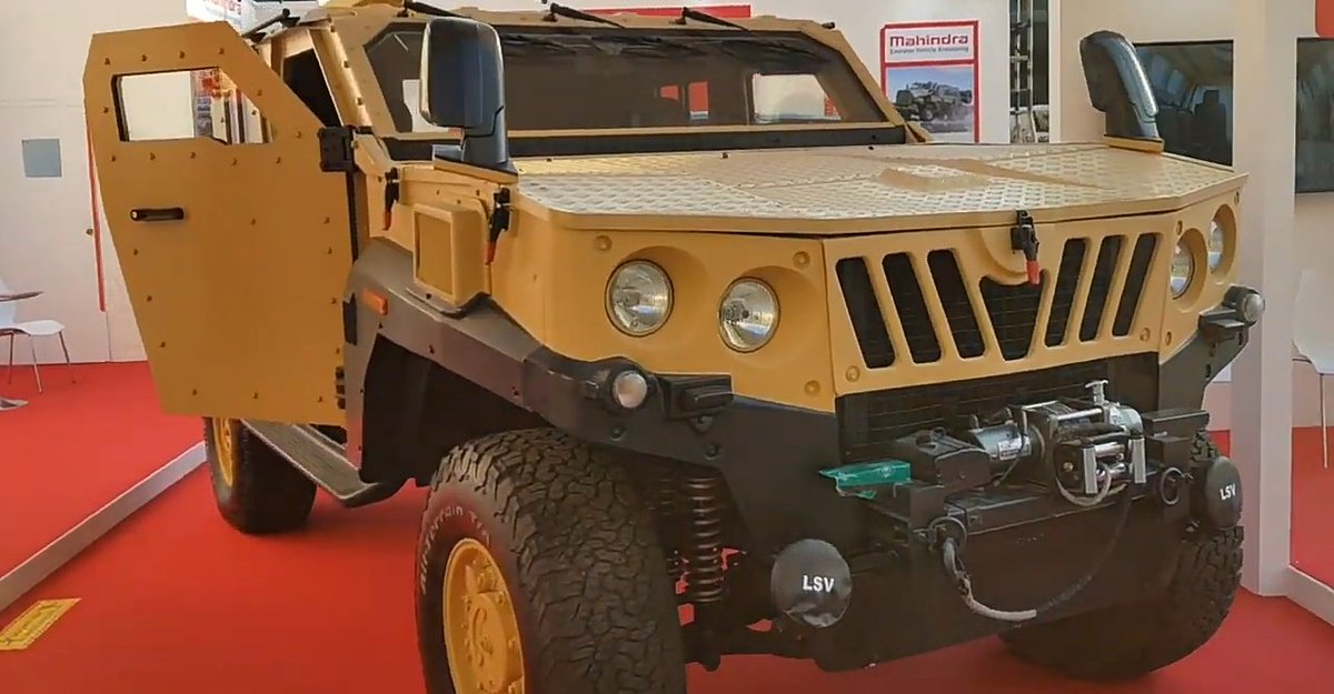 front view of Mahindra LSV