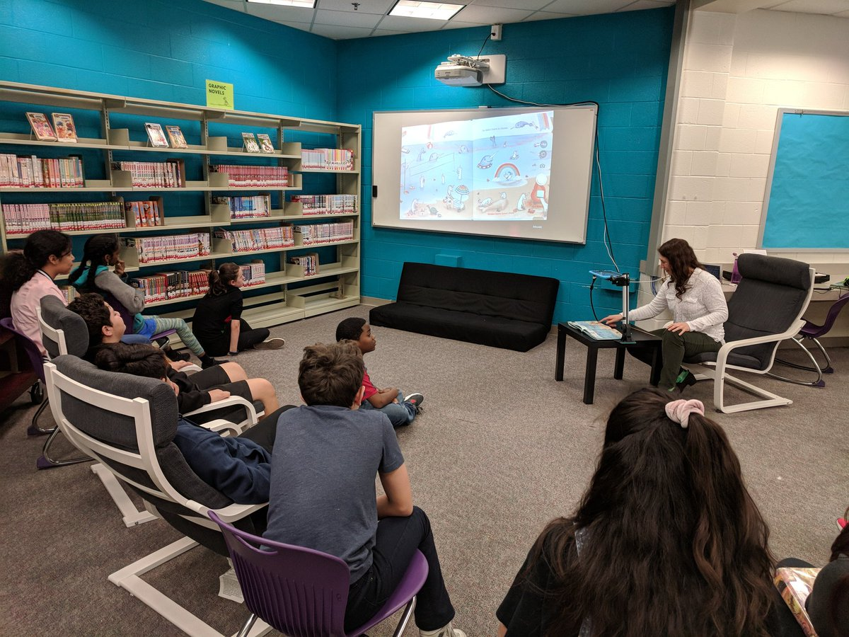 Never too old for story time! Our students are deciding on which picture books will advance to the next level for March Book Madness. <a target='_blank' href='http://search.twitter.com/search?q=MBM19'><a target='_blank' href='https://twitter.com/hashtag/MBM19?src=hash'>#MBM19</a></a> <a target='_blank' href='http://twitter.com/APSLibrarians'>@APSLibrarians</a> <a target='_blank' href='http://twitter.com/APSGunston'>@APSGunston</a> <a target='_blank' href='https://t.co/zhST86o2EH'>https://t.co/zhST86o2EH</a>