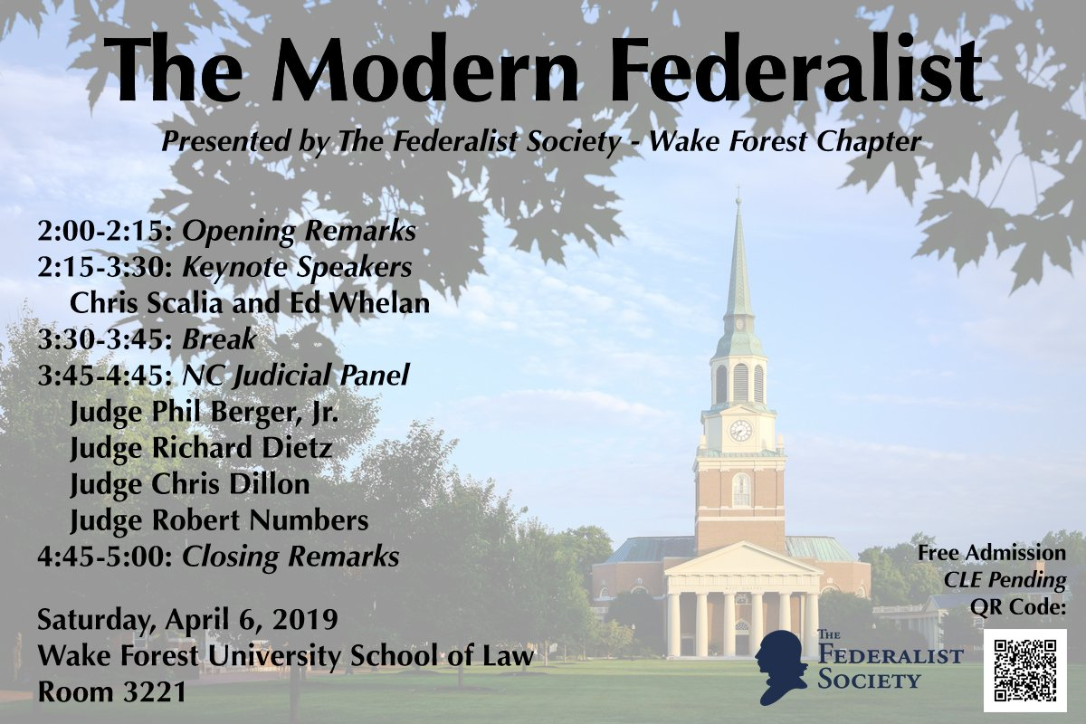WFUFederalistSociety - @WFUFedSoc Twitter Profile and